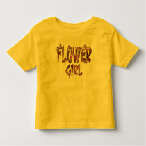 Flower Girl Toddler Tee Customizable