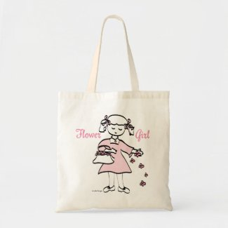 pink petal Flower Girl tote bag