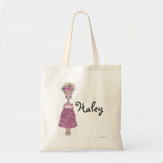 Flower Girl Tote Bag - Personalize - Haley