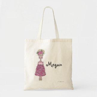 Flower Girl Tote Bag - personalize - Megan
