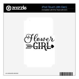 Flower Girl, Tribe Arrow, Wedding Party iPod Touch 4G Skin