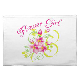 Flower Girl Tropical Flower Cloth Placemat