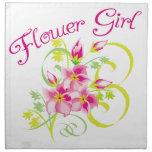 Flower Girl Tropical Flower Napkin