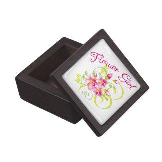 Flower Girl Tropical Flower Premium Keepsake Box