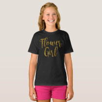 Flower Girl Tshirt | Gold Foil Print