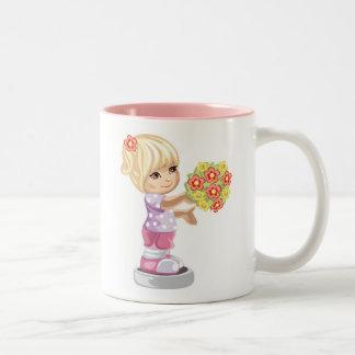 Flower Girl Two-Tone Coffee Mug