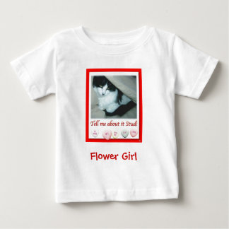 Flower Girl Valentine's Day Wedding Baby T-Shirt