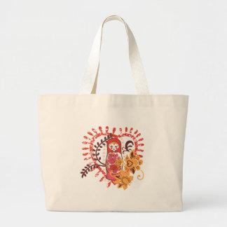 flower girl vintage unique design large tote bag