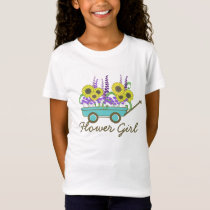 Flower Girl Wagon of Flowers T-Shirt