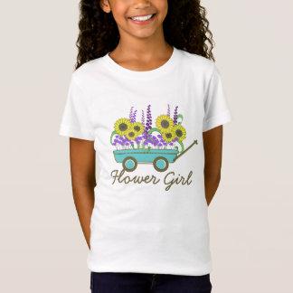 Flower Girl Wagon of Flowers T-Shirt
