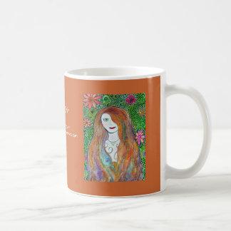 Flower Girl Watercolor Mosaic Classic White Coffee Mug