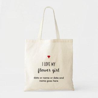 Flower Girl Wedding Gift Tote Bag