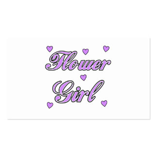 Flower Girl Wedding Hearts Business Cards