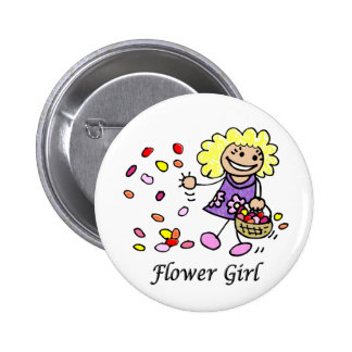 Flower Girl Wedding ID Button