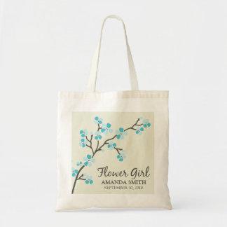 Flower Girl Wedding Party Gift Bag (aqua)