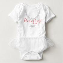 Flower Girl- White Onsie Tutu Baby Bodysuit