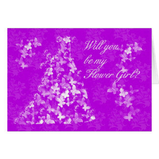 Flower Girl, Will you be my Flower Girl? Greeting Card