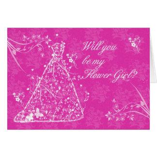Flower Girl, Will you be my Flower Girl? Card