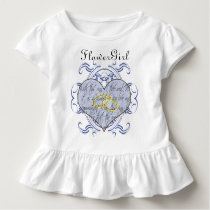 Flower Girl With periwinkle inspired blue Toddler T-shirt
