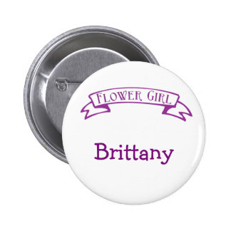 Flower Girl with Ribbon 2 Inch Round Button