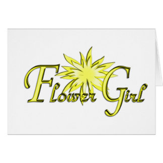 Flower Girl Yellow Greeting Card