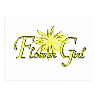 Flower Girl Yellow Post Cards