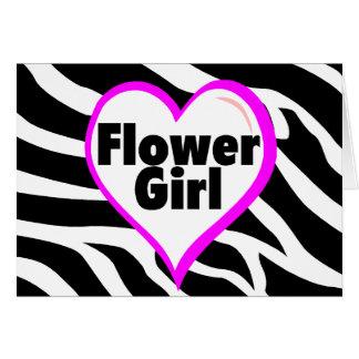 Flower Girl (Zebra Print) Greeting Cards