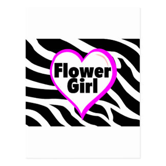 Flower Girl (Zebra Print) Postcard