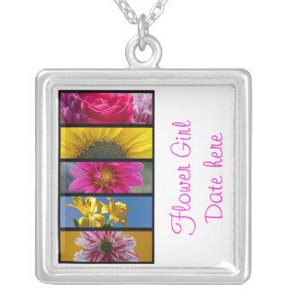 Flower Girls Necklace - Pink & Yellow Macro