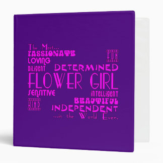Flower Girls Thank You Wedding Favors : Qualities 3 Ring Binder