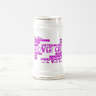 Flower Girls Thank You Wedding Favors : Qualities Beer Stein