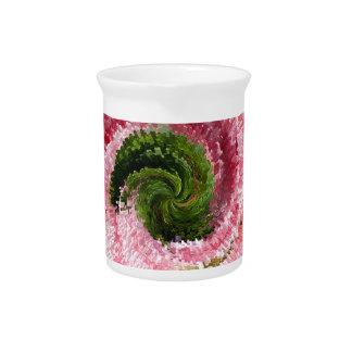 Flower globe abstract beverage pitcher