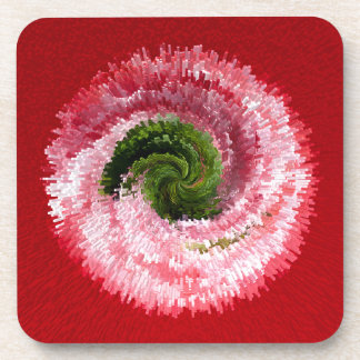 Flower globe abstract drink coaster