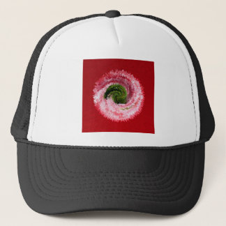 Flower globe abstract trucker hat
