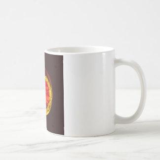 Flower globe in red and yellow coffee mug