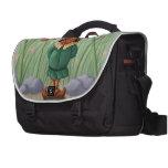 flower gnome garden laptop messenger bag