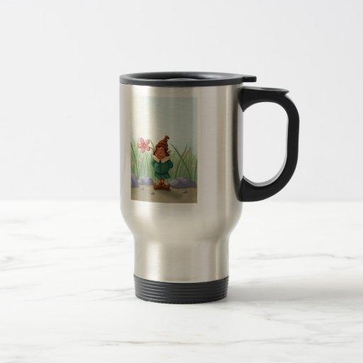 flower gnome garden mugs