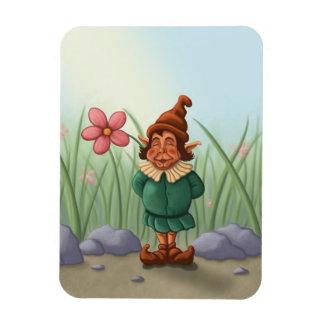 flower gnome garden premium magnet