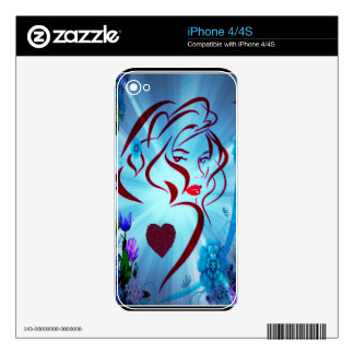 Flower Godess.png Decals For The iPhone 4
