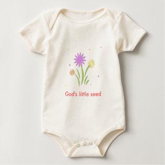 Flower, God's little seed Baby Bodysuit