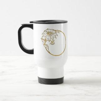 Flower Gold Ring Portrait Photo ifts Coffee Mug