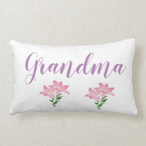 flower grandma lumbar pillow