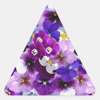 Flower Graphic Triangle Sticker