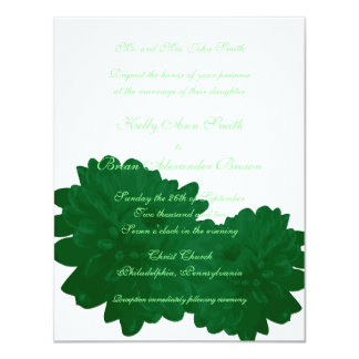 Flower (Green) Small Rectangular Invitation
