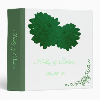 Flower (Green) Wedding Album or Planner Binder