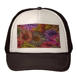 flower greetings,vintage look trucker hat