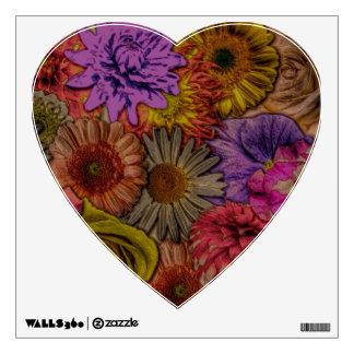 flower greetings, vintage look room stickers
