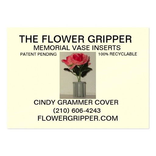Flower Gripper Resized Back Large Business Card