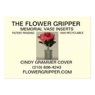 Flower Gripper Resized Back Large Business Cards (Pack Of 100)