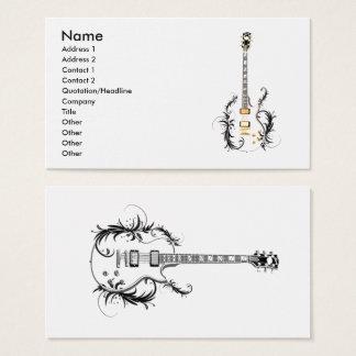 Flower guitar business card